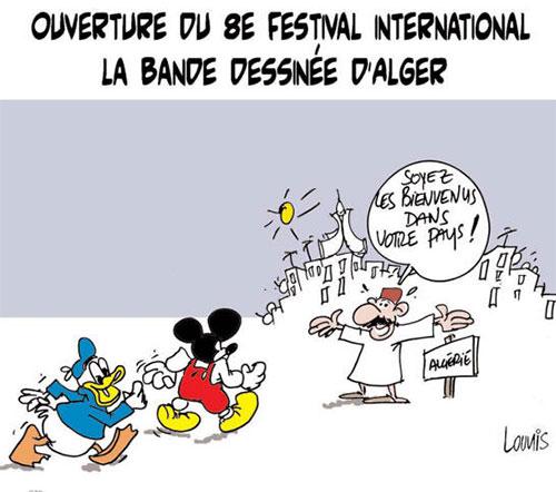 Ouverture du 8e festival international de la bande dessinée d'Alger - Lounis Le jour d'Algérie - Gagdz.com