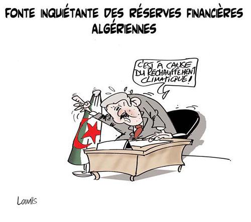Fonte inquiétante des réserves financières algériennes - Lounis Le jour d'Algérie - Gagdz.com
