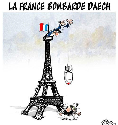 La France bombarde daech