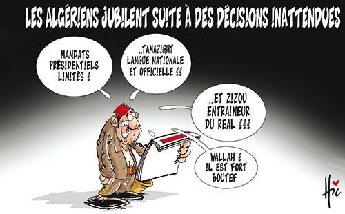 Les Algériens jubiles suite à des décisions inatendues - Le Hic - El Watan - Gagdz.com