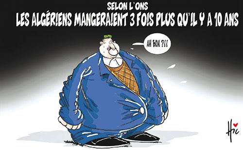 Selon l'ons: Les Algériens mangeraient 3 fois plus qu'il y a 10 ans - Le Hic - El Watan - Gagdz.com