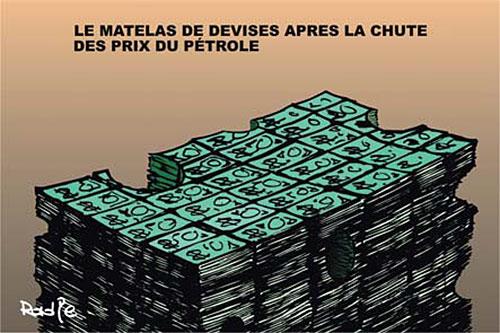 Le matelas de devises après la chute des prix du pétrole
