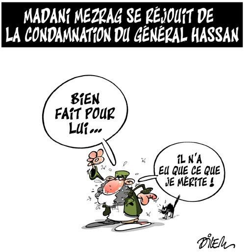 Madani Mezrag se réjuit de la condamnation du général Hassan
