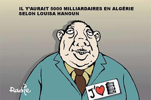 Il y'aurait 5000 milliardaires en Algérie selon Louisa Hanoun - Ghir Hak - Les Débats - Gagdz.com