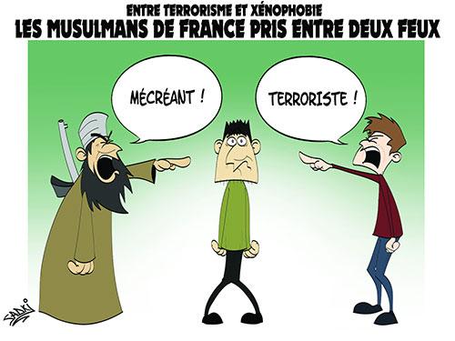 Entre terrorisme et xénophobie: Les musulmans de France pris entre deux feux - Sadki - Le provincial - Gagdz.com