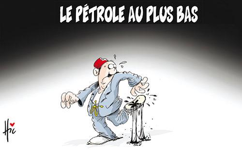 Le pétrole au plus bas