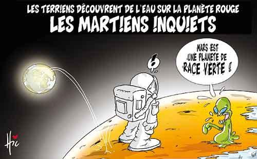 Les terriens découvrent de l'eau sur la planète rouge: Les martiens inquiets - Le Hic - El Watan - Gagdz.com