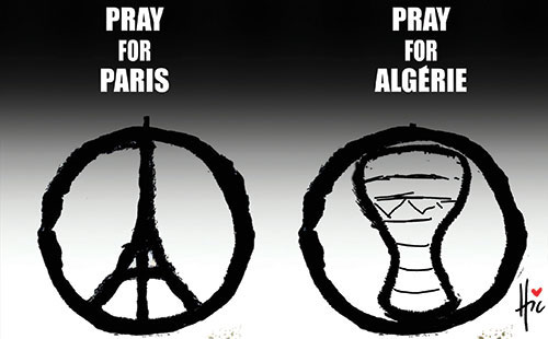 Pray for Paris - Pray for Algérie - Le Hic - El Watan - Gagdz.com