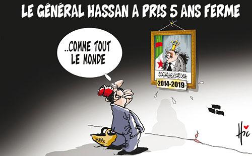 Le général Hassan a pris 5 ans ferme