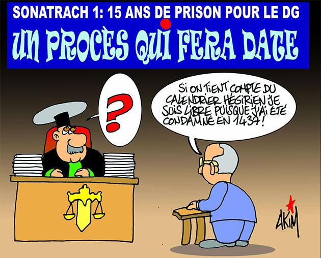 Sonatrach 1: 15 ans de prison pour le dg: Un procès qui fera date