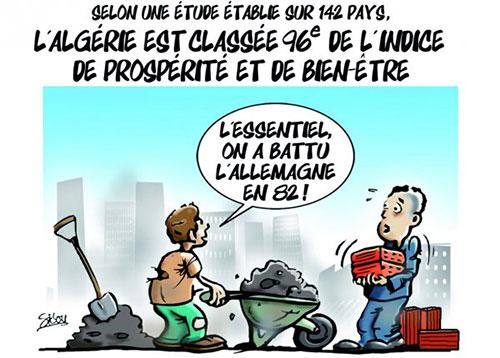 Selon une étude établie sur 142 pays: L'Algérie est classée 96e de l'indice de prospérité et de bien-être - Sidou - Gagdz.com