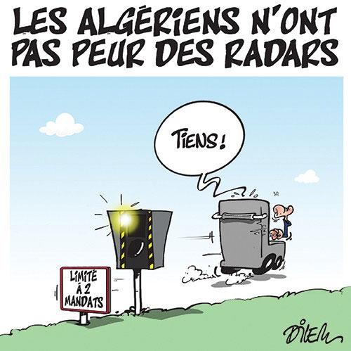 Les Algériens n'ont pas peur des radars - Dilem - Liberté - Gagdz.com