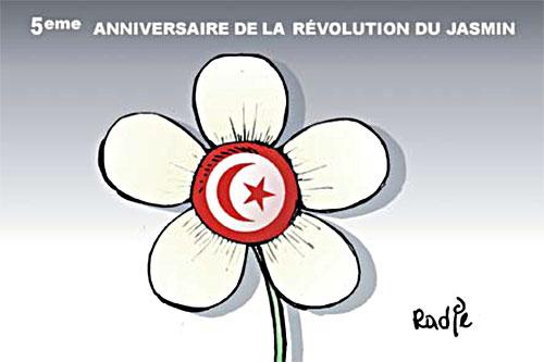 5ème anniversaire de la révolution du jasmin - Ghir Hak - Les Débats - Gagdz.com