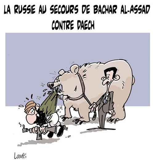 La Russie au secours de Bachar Al-Assad contre daech
