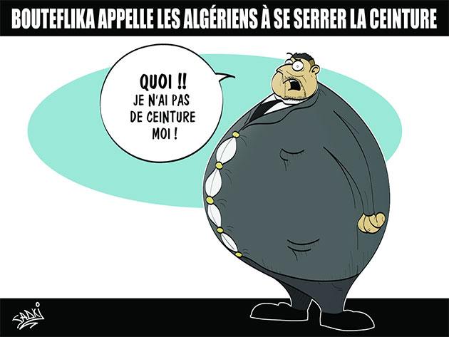 Bouteflika appelles les algériens à se serrer la ceinture