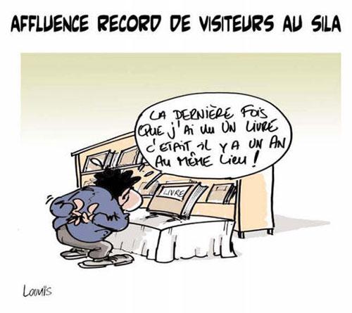 Affluence record de visiteurs au sila - Lounis Le jour d'Algérie - Gagdz.com