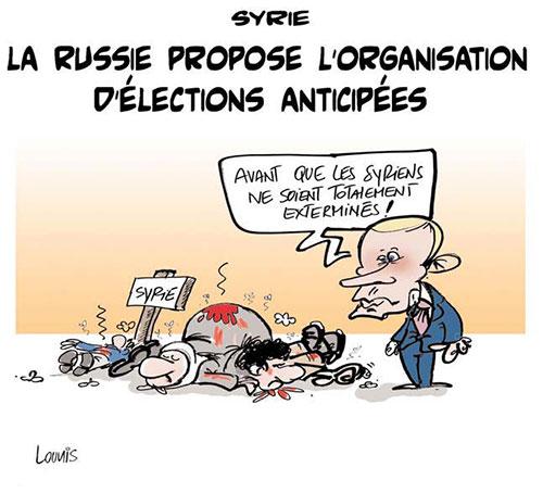 Syrie: La Russie propose l'organisation d'élections anticipées - Lounis Le jour d'Algérie - Gagdz.com