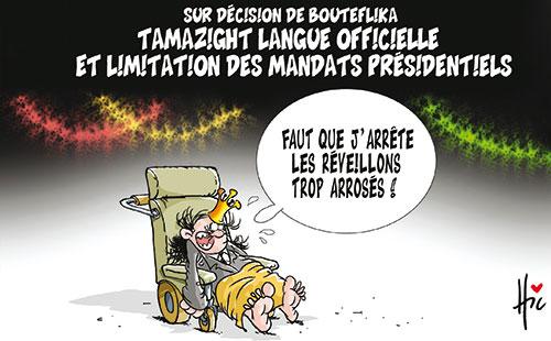 Sur décision de Bouteflika: Tamazight langue officielle et limitation des mandats présidentiels - Le Hic - El Watan - Gagdz.com