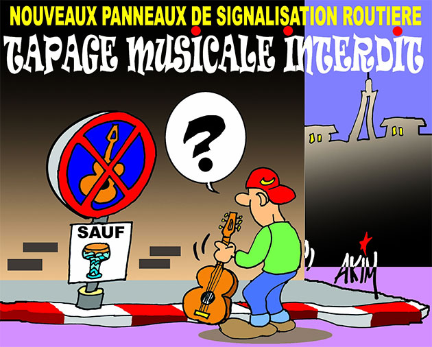 nouveaux panneaux de signalisation routi re tapage musicale interdit caricatures et humour. Black Bedroom Furniture Sets. Home Design Ideas