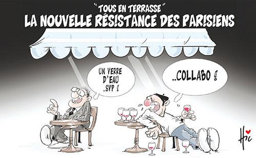 Tous en terrase: La nouvelle résistance des parisiens - Le Hic - El Watan - Gagdz.com