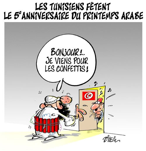 Les Tunisiens fêtent le 5e anniversaire du printemps arabe