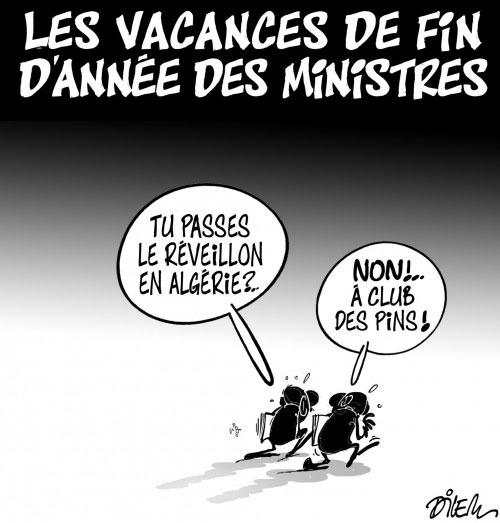 Les vacances de fin d'année des ministres