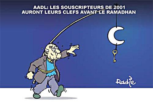 AADL: Les souscripteurs de 2001 auront leurs clefs avant le ramadhan