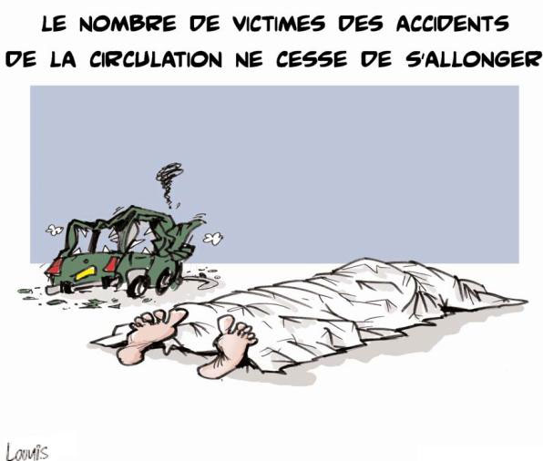 Le nombre de victimes des accidents de la circulation ne cesse de s'allonger