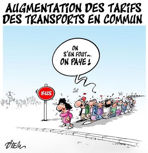 Augmentation des tarifs des transports en commun