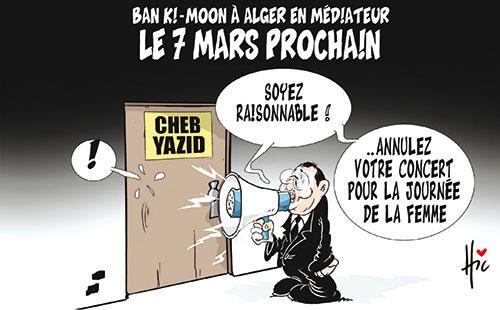 Ban Ki-Moon à Alger en médiateur le 7 mars prochain