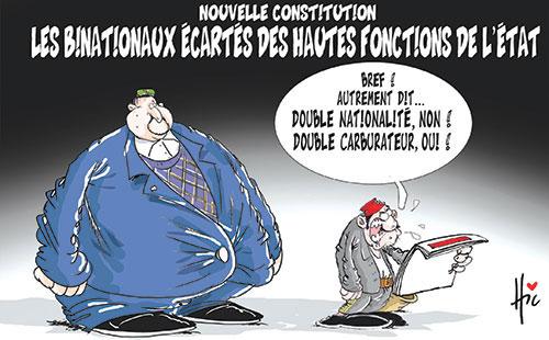 Nouvelle constitution: Les binationaux écartés des hautes fonctions de l'état