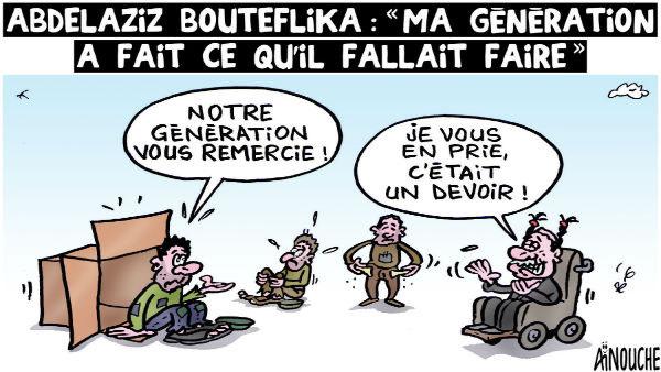 """Adbelaziz Bouteflika: """"Ma génération a fait ce qu'il fallait faire"""""""