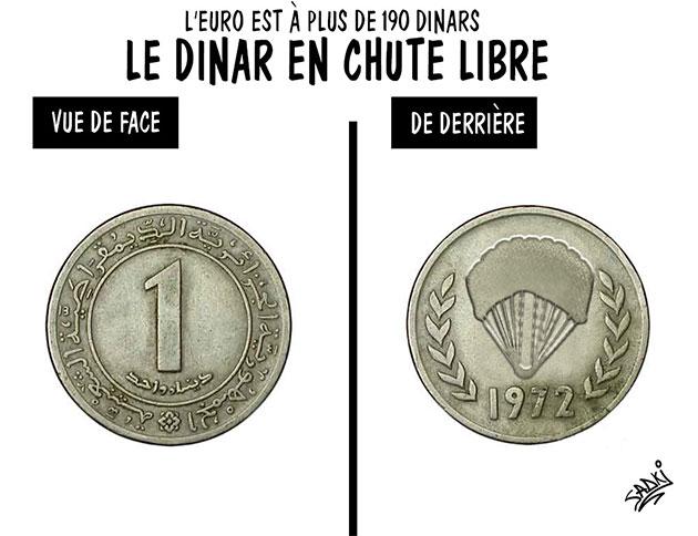 L'euro est à plus de 190 dinar: Le dinar en chute libre