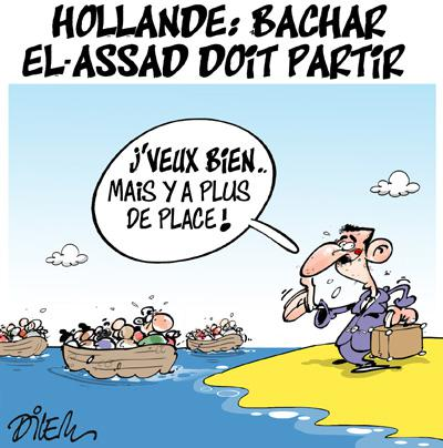 Caricature dilem TV5 du Mardi 29 septembre 2015