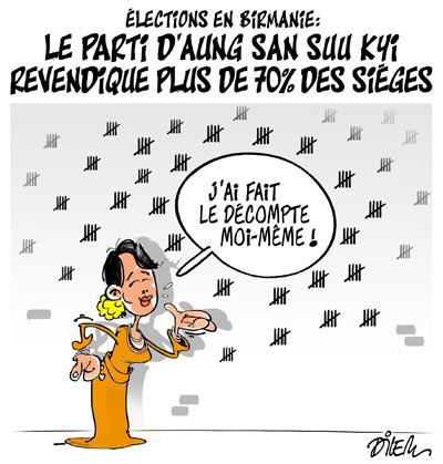 Caricature dilem TV5 du Lundi 09 novembre 2015