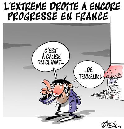 L'extrême droite a encore progressé en France