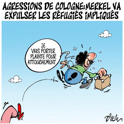 Caricature dilem TV5 du Lundi 11 janvier 2016