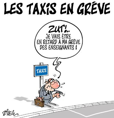 Les taxis en grève