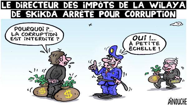 Le directeur des impots de la wilaya de Skikda arrêté pour corruption