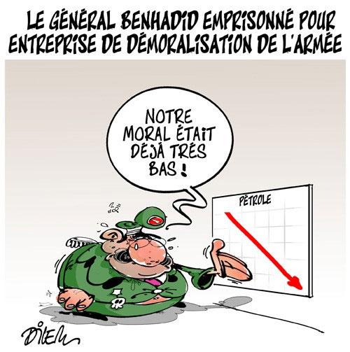 Le général Benhadid emprisonné pour entreprise de démoralisation de l'armée
