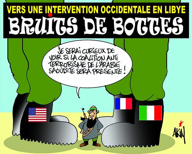 Vers une intervention occidentale en Libye: Bruits de bottes