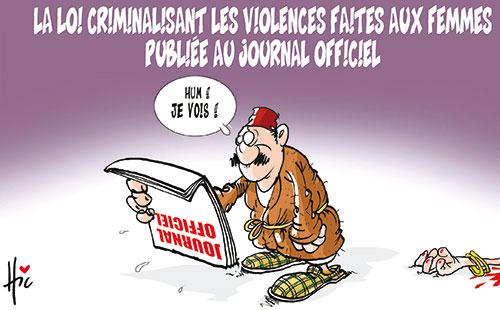 La loi criminalisant les violences faites aux femmes publiée au journal officiel