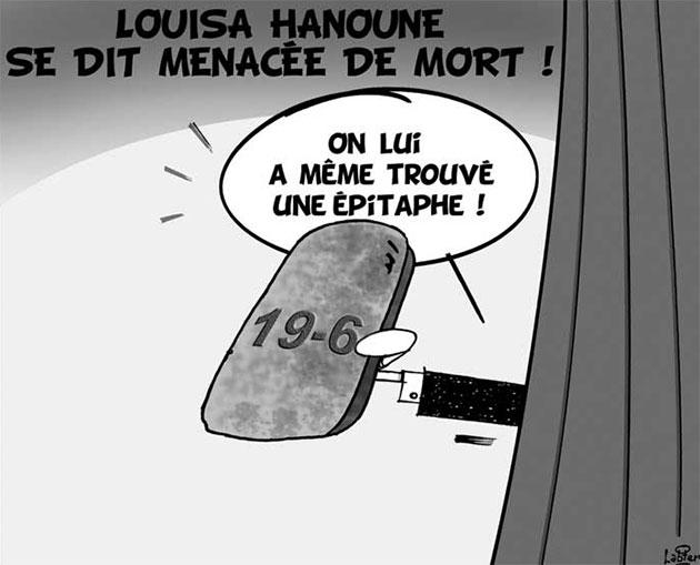 Louisa Hanoune se dit menacée de mort