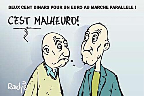 Deux cent dinars pour un euro au marché parallèle