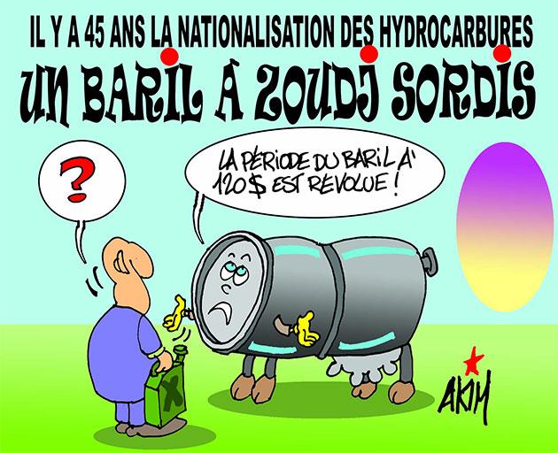 Il y a 45 ans la nationalisation des hydrocarbures