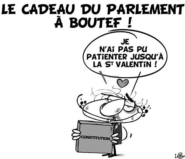 Le cadeau du parlement à Boutef