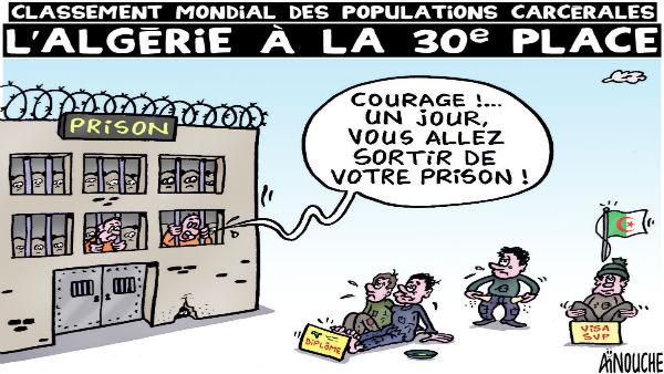 Classement mondial des populations carcérales: L'Algérie à la 30e place