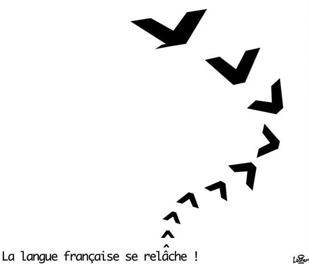 La langue française se relâche