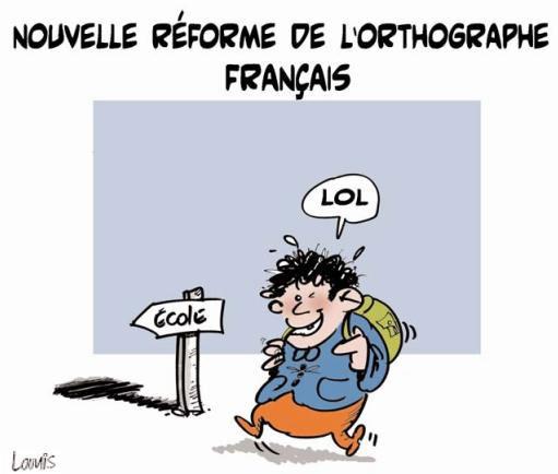 Nouvelle réforme de l'orthographe français