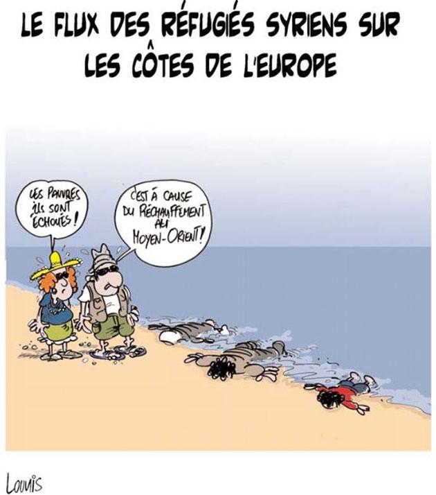 Le flux des réfugiés syriens sur les côtes de l'Europe